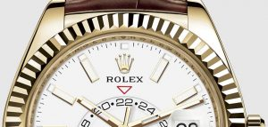 The fine watches replica Rolex Sky-dweller 326138 have dual time zone and date windows.