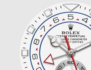 The 44 mm replica Rolex Yacht-Master II 116689 watches have white dials.