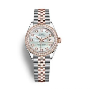 The luxury fake Rolex Datejust 28 279381RBR watches are designed for ladies.