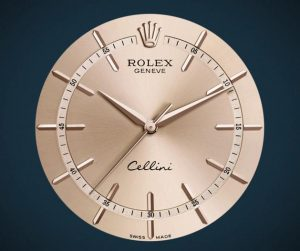 The fancy copy Rolex Cellini Time 50705RBR watches have pink dials.
