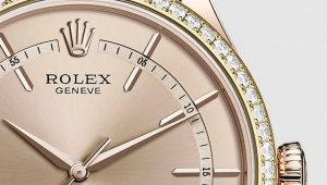 The beautiful replica Rolex Cellini Time 50705RBR watches are decorated with diamonds.