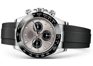 The 40 mm replica Rolex Cosmograph Daytona 116519LN watches have stainless steel dials.