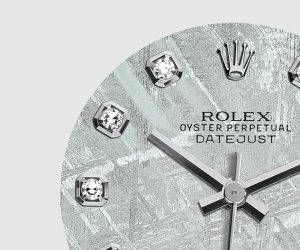 The attractive copy Rolex Pearlmaster 34 81159 watches have aerolite dials.