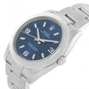 The durable fake Rolex Oyster Perpetual 34 114200 watches are made from Oystersteel.