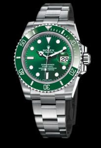 The sturdy replica Rolex Submariner Date 116610LV watches are made from Oystersteel.