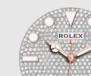 The everose gold replica Rolex Yacht-Master watches have diamond-paved dials.