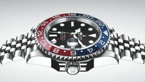 The durable copy Rolex GMT-Master II 126710BLRO watches are made from Oystersteel.