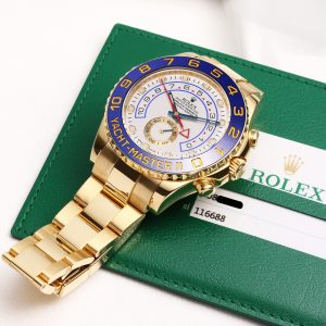 The luxury fake Rolex Yacht-Master II 116688 watches are made from gold.